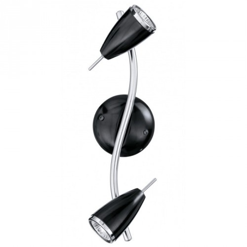 2-light GU10 black/chrome RICCIO
