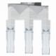 """Світильник підвіс /3 Е2760W хром/білий прозорий """"Пінто"""""""