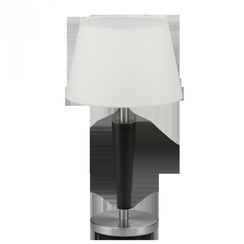 "Настільна лампа/1 E14 нікель-мат/коричн.антик""Рейна"""