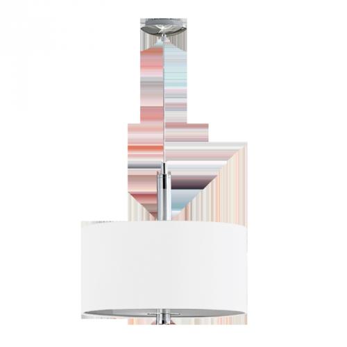 Світильник підвіс/3x60W E27 алюм/хром білий 'Халва'