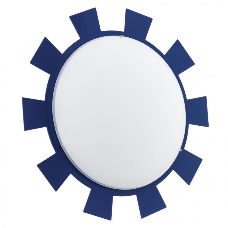 """Світильник стельовий/1 60W E27 синій/білий """"Леоні"""""""