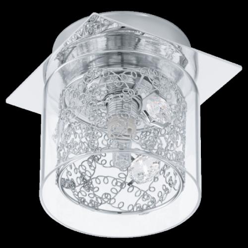 """Світильник вбудований в стелю/1 33W G4 хром/прозорий """"Пiанелла"""""""