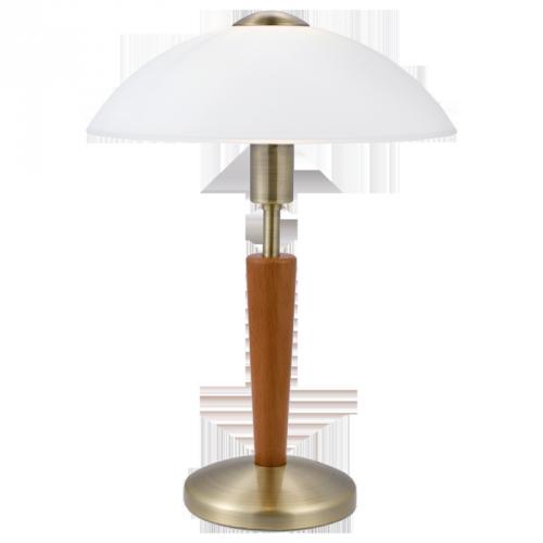 """Настільна лампа/1х60W E14 темна бронза/горіх """"Соло 1"""""""