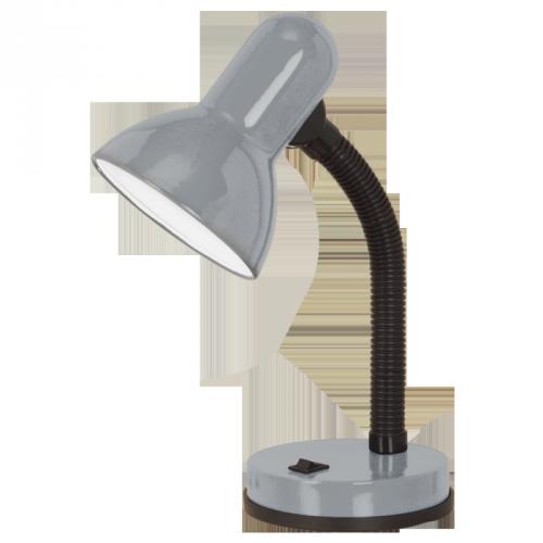 """Настільна лампа/ 160W E27 срібний """"Бейсік 1"""""""