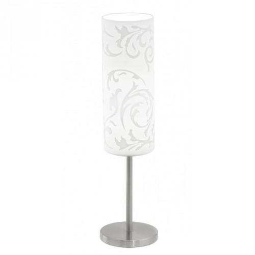 """Настільна лампа/1 Е27 нікель-мат/декор на склі """"Амадора """""""