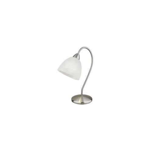 "Настільна лампа/1 Е14 40W нікель-мат/алабастр ""Діоніс"""