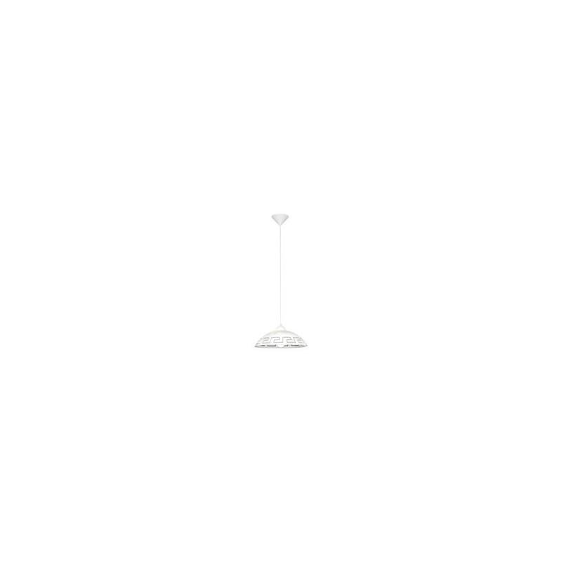 Світильник підвіс/1 DM350 декор білий/коричневий