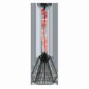 HL/1 GX53-LED SCHWARZ/ROT 'PIASTRE'