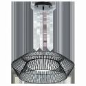 LED-HL 18W SCHWARZ/WS/SW-WS 'PIASTRE'