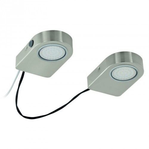 LED-AUFBAUSET/2 NICKEL-MATT 'LAVAIO'